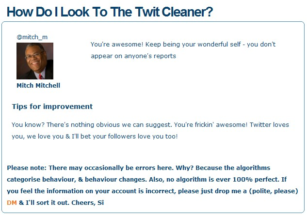 Twit Cleaner | I'm Just Sharing