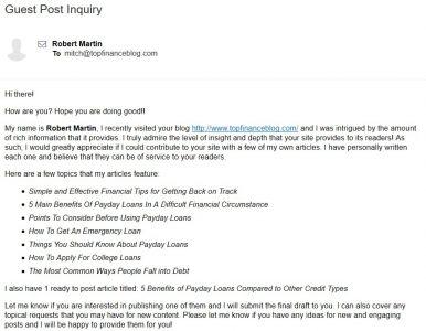 lazily written marketing letter